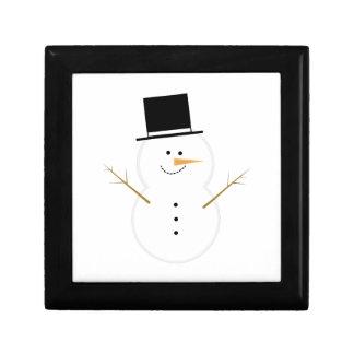 Muñeco de nieve feliz cajas de recuerdo