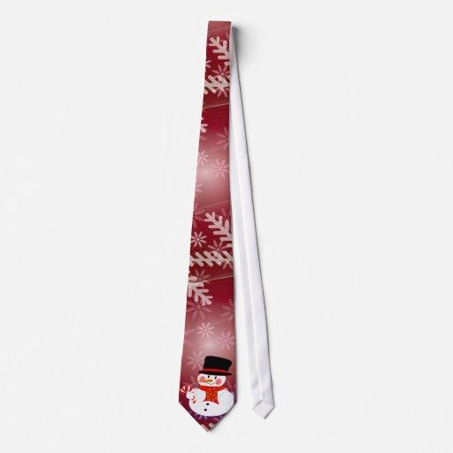 Muñeco de nieve feliz corbata personalizada