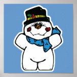 muñeco de nieve feliz de la helada impresiones