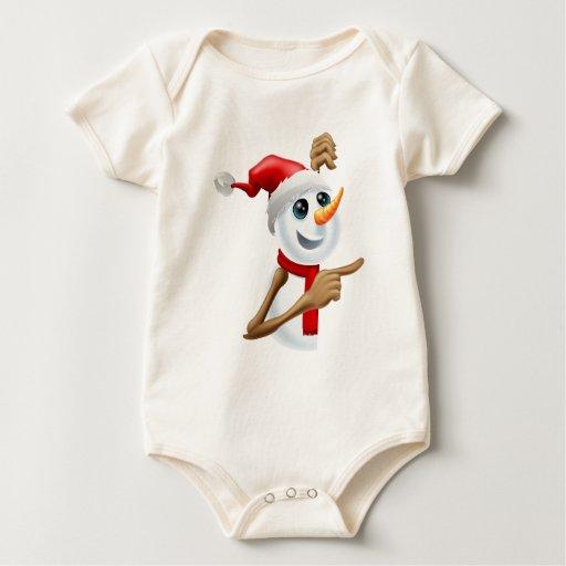 Muñeco de nieve feliz en señalar del gorra de Sant Traje De Bebé