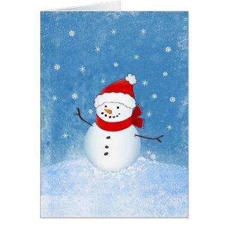 Muñeco de nieve feliz felicitaciones
