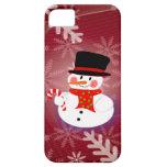 Muñeco de nieve feliz iPhone 5 carcasas