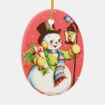 Muñeco de nieve feliz ornato