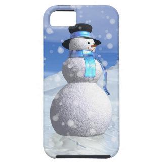 Muñeco de nieve feliz para el navidad funda para iPhone SE/5/5s