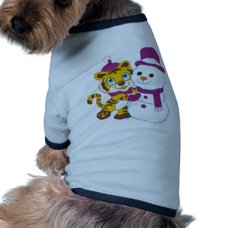 Muñeco de nieve festivo de las Felices Navidad Camiseta De Perrito