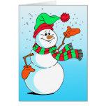Muñeco de nieve festivo del dibujo animado tarjetas
