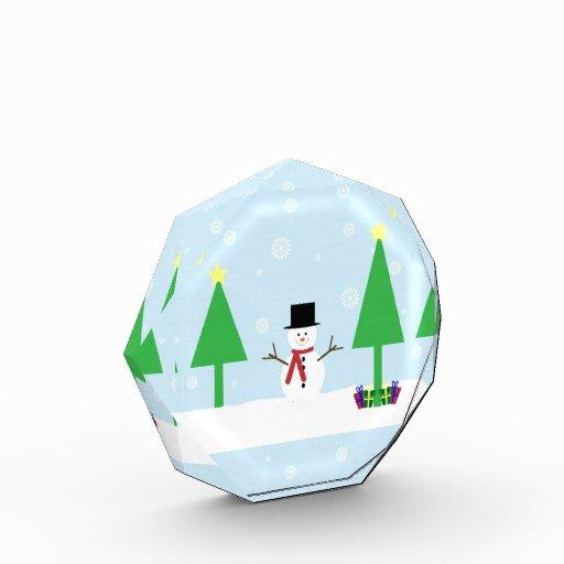 Muñeco de nieve festivo del navidad