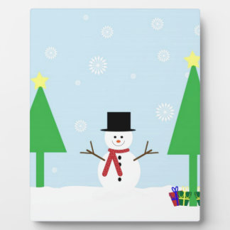 Muñeco de nieve festivo del navidad placas de madera