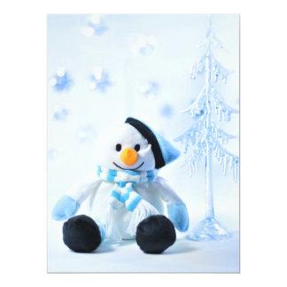 """Muñeco de nieve festivo feliz. invitación 6.5"""" x 8.75"""""""