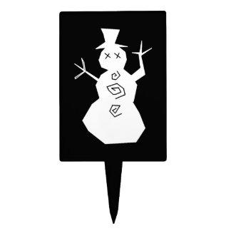 +{Muñeco de nieve}+ Figura Para Tarta