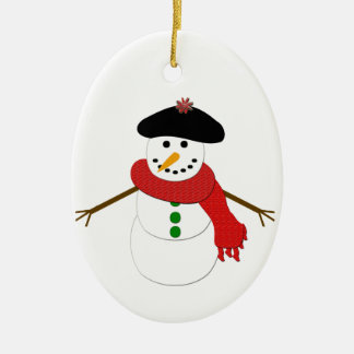 Muñeco de nieve francés adorno para reyes