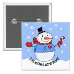 Muñeco de nieve frío de las manoplas pin