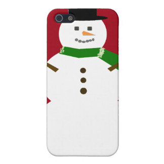 Muñeco de nieve iPhone 5 carcasa