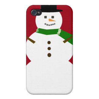 Muñeco de nieve iPhone 4 carcasas