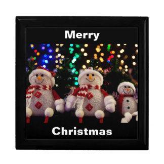 Muñeco de nieve Giftbox de las Felices Navidad Cajas De Joyas