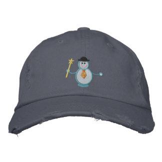 Muñeco de nieve gorras de beisbol bordadas