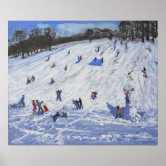 Muñeco de nieve grande Chatsworth 2012 Póster