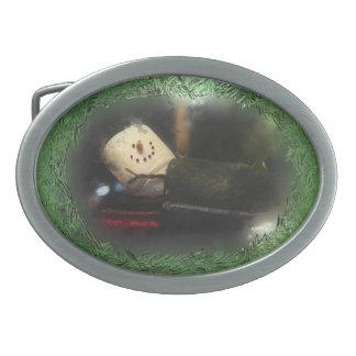Muñeco de nieve helado verde de S'Mores de la vent Hebilla Cinturón