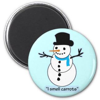 muñeco de nieve imán de frigorífico