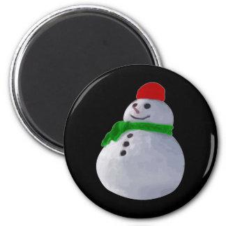 Muñeco de nieve imán redondo 5 cm