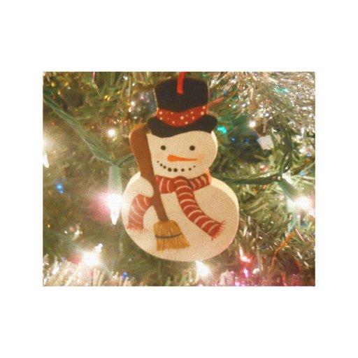 Muñeco de nieve impresion en lona