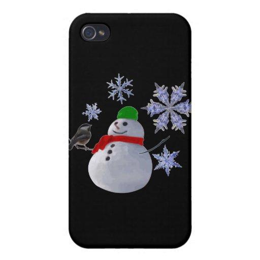 Muñeco de nieve iPhone 4/4S carcasas