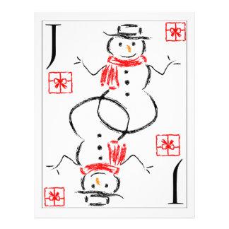Muñeco de nieve - Jack de presentes Tarjeton