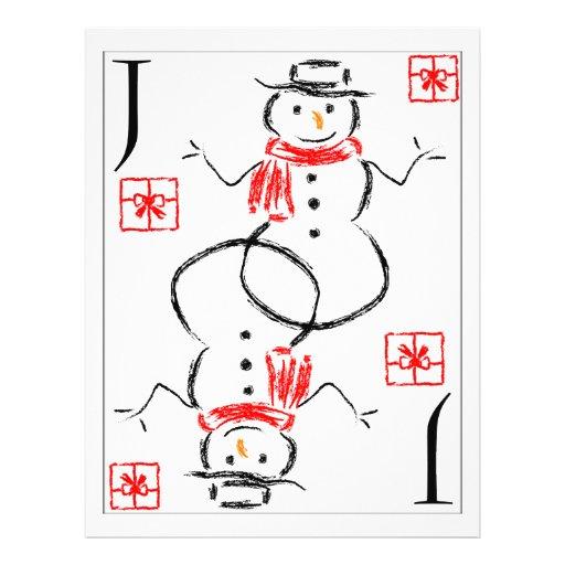 "Muñeco de nieve - Jack de presentes Folleto 8.5"" X 11"""