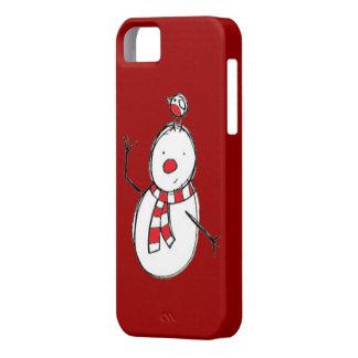 Muñeco de nieve lindo con el caso del iPhone 5 del Funda Para iPhone SE/5/5s