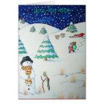 Muñeco de nieve lindo con el navidad que almacena felicitaciones