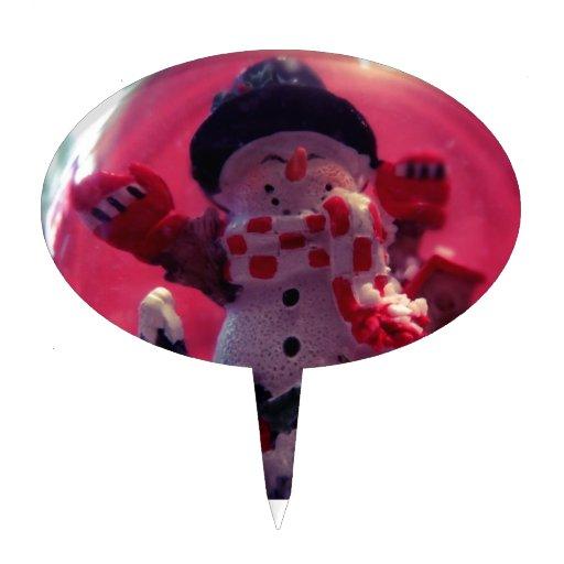 Muñeco de nieve lindo decoraciones para tartas