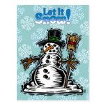 Muñeco de nieve lindo del día de fiesta tarjeta postal
