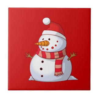 Muñeco de nieve lindo del navidad tejas  cerámicas