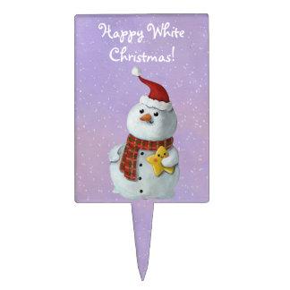 Muñeco de nieve lindo del navidad figuras para tartas