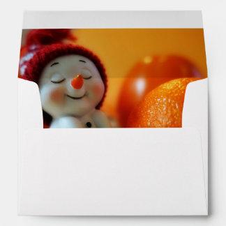 Muñeco de nieve lindo del navidad sobres