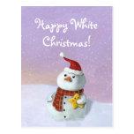 Muñeco de nieve lindo del navidad tarjeta postal