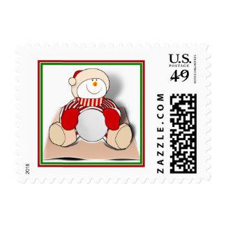 Muñeco de nieve lindo del recorte sellos