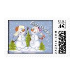 Muñeco de nieve lindo - diseño del navidad sellos