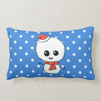 Muñeco de nieve lindo festivo almohadas