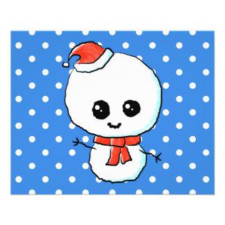 Muñeco de nieve lindo festivo tarjetas publicitarias