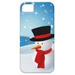 Muñeco de nieve lindo iPhone 5 Case-Mate cárcasa