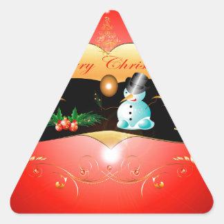 Muñeco de nieve lindo calcomanía de trianguladas