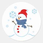 Muñeco de nieve lindo pegatinas