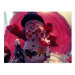 Muñeco de nieve lindo tarjetas postales