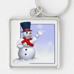 Muñeco de nieve llavero