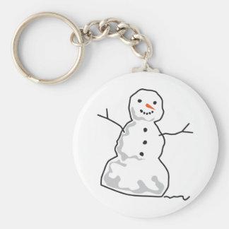 Muñeco de nieve llavero redondo tipo pin
