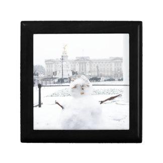 Muñeco de nieve Londres del Buckingham Palace Caja De Joyas