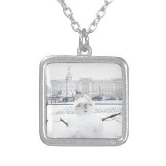 Muñeco de nieve Londres del Buckingham Palace Colgante Cuadrado