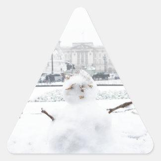 Muñeco de nieve Londres del Buckingham Palace Colcomanias Trianguladas