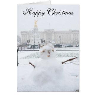 Muñeco de nieve Londres del Buckingham Palace Tarjeta De Felicitación